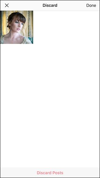 پاک کردن درفت (پیش نویس) اینستاگرام