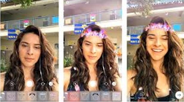 فیلتر چهره در لایو اینستاگرام